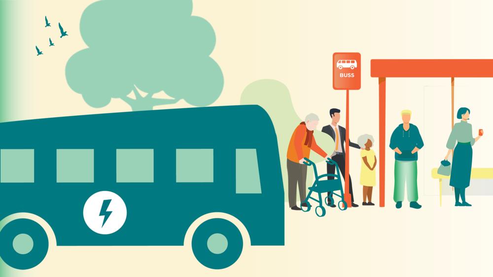 Elbussar i kollektivtrafiken