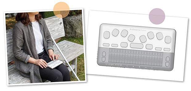 BrailleSense Polaris Mini underlättar för personer i farten - stoppa ner den lilla anteckningsapparaten i väskan och plocka enkelt fram den när behov uppstår - var du än befinner dig.