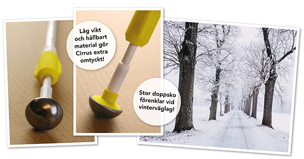 Låg vikt och hållbart material gör Cirrus extra omtyckt!
