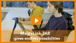 Klickbar filmruta för att starta filmen om MagniLink TAB.