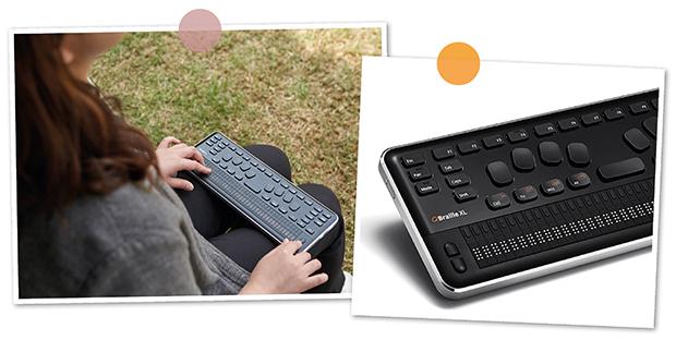 QBraille XL hjälper gravt synskadade och blinda till en självständigare vardag.