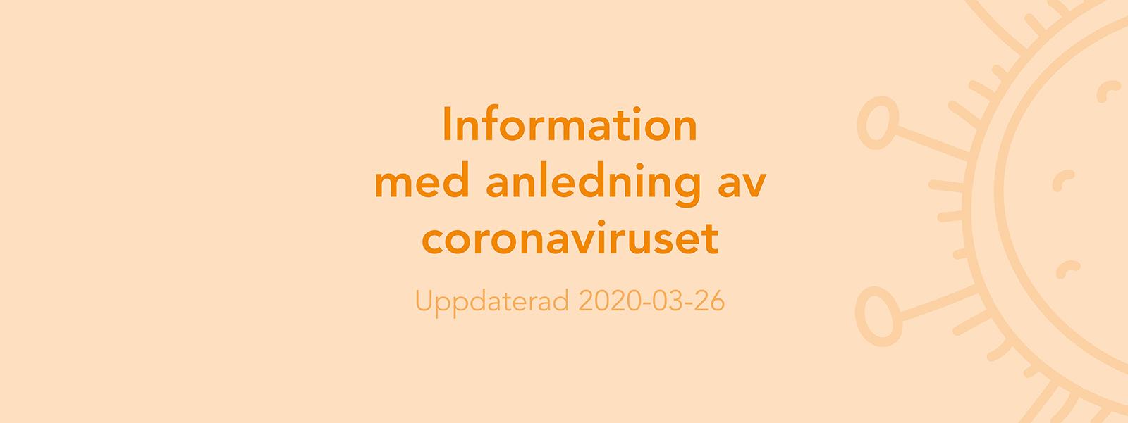 Vi har oförändrad leveransförmåga coronaviruset till trots