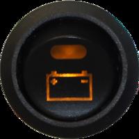 Brytare Batteri / Belyst symbol