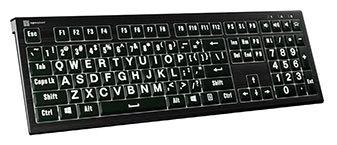 Groß beschriftete Tastaturen