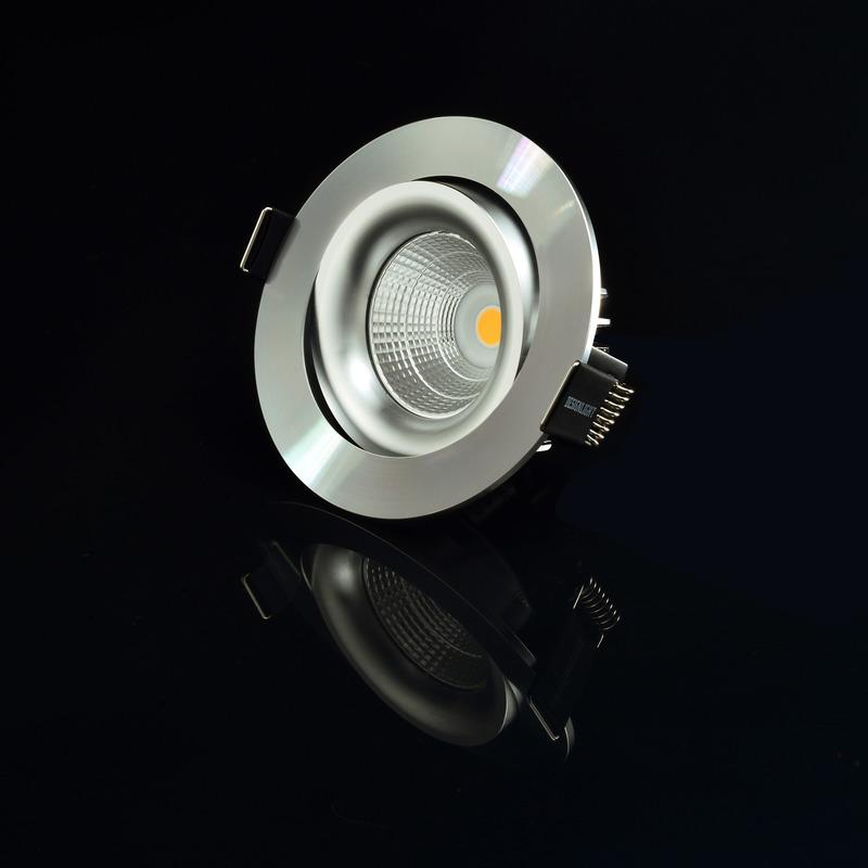 LED-downlight vinklingsbar ALU 620 lumen 3000K