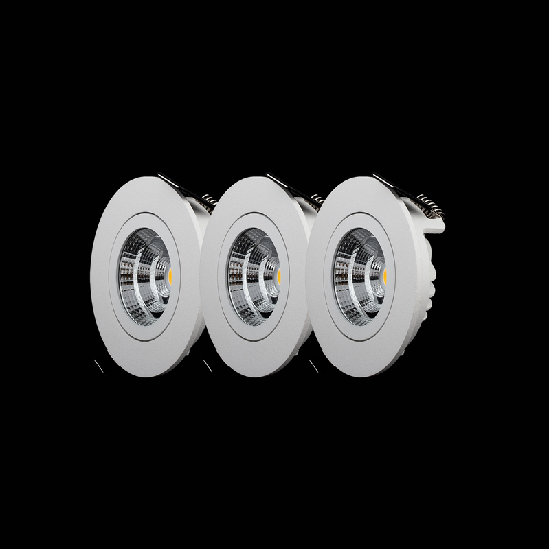 3-pack LED-Downlights 2700K QB-301MW