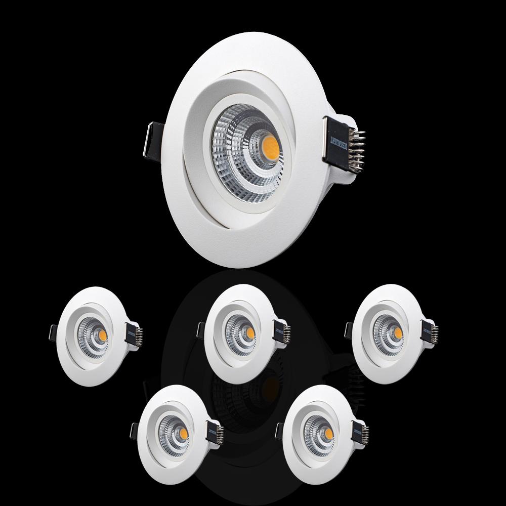 6-pack LED-spotlights 2700K Vinklingsbara MPT-276MW