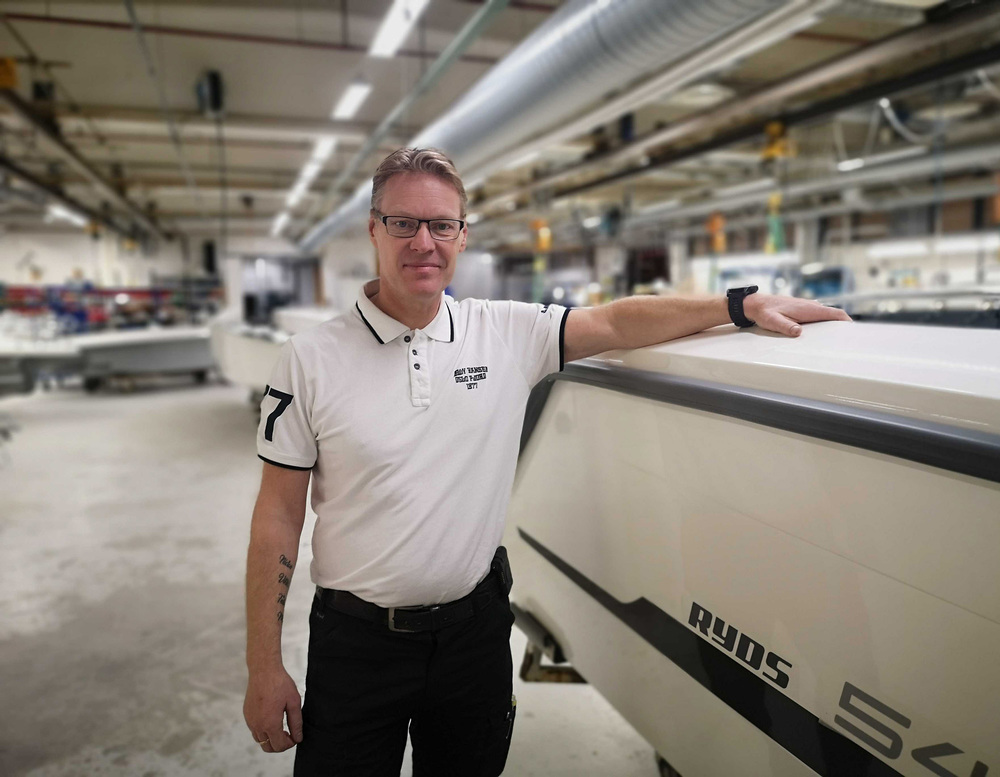 Jörgen Paulsson, produktionschef på Ryds Båtar
