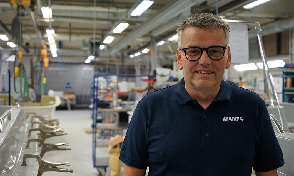 Bild på Thomas Landerberg som är anställd hos Ryds som projektledare för bland annat Ryds 735 VI.