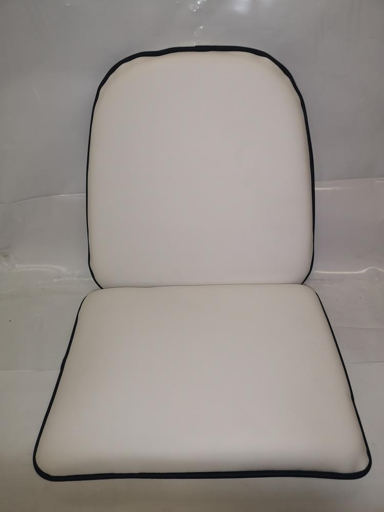 Dynsats stol 2 delar Vit/Blå