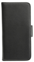 Plånboksväska för iPhone 5/5S/5SE Svart i äkta läder