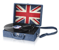 Skivspelare Stereo System Flagga Storbritannien