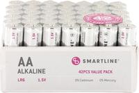 Batteri Alkaliskt LR6 1,5V AA 42-pack