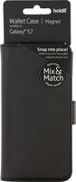 Plånboksväska Mix & Match Magnet System Galaxy S7 Svart