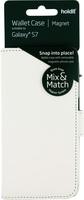 Plånboksväska Mix & Match Magnet System Galaxy S7 Vit
