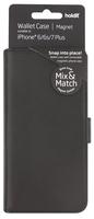 Plånboksväska Mix & Match Magnet System iPhone 8/7/6/6sPlus Svart