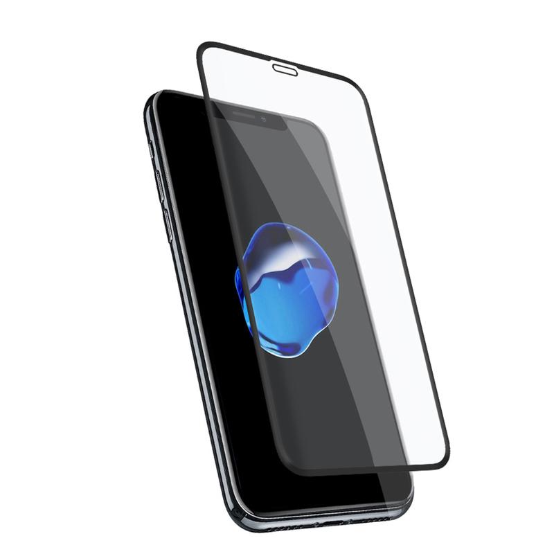 bild 1 av Holdit Tempered Glass iPhone XR 3D Case friendly Black frame