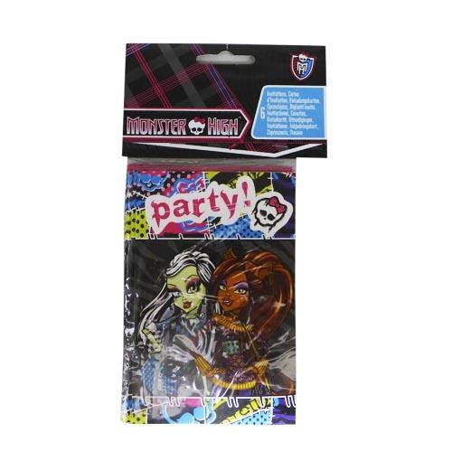 Monster High Inbjudningskort
