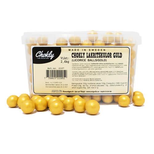 CHOKLY LAKRITSKULOR GULD - 2,4 kg