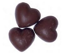 Chokladhjärta Kola - 3,6 kg kartong /
