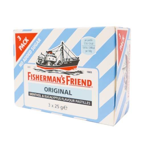 FISHERMAN FRIEND BLÅ/VIT Sockerfri 3-pac /