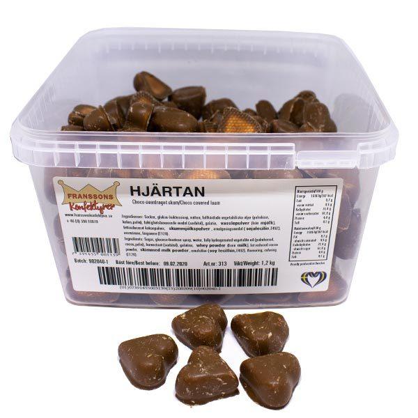 Chokladhjärtan med skum  - 1,2 kg