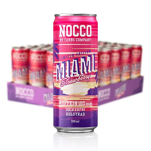 NOCCO MIAMI STRAWBERRY 24-PACK  33 CL
