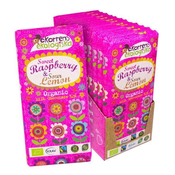Ekorrens Sweet Raspberry 85g x 12 st