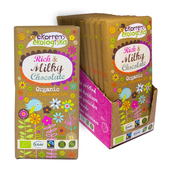 Ekorrens Rich Milky Chocolate 85g x 12