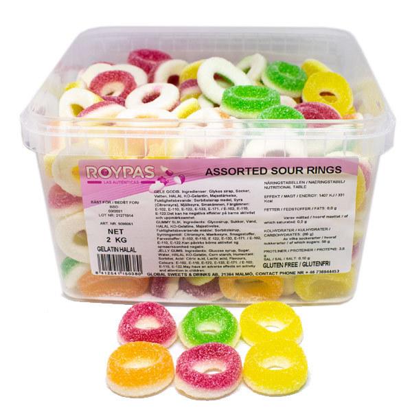 Assorted Sour Rings (Halal) - 2 kg