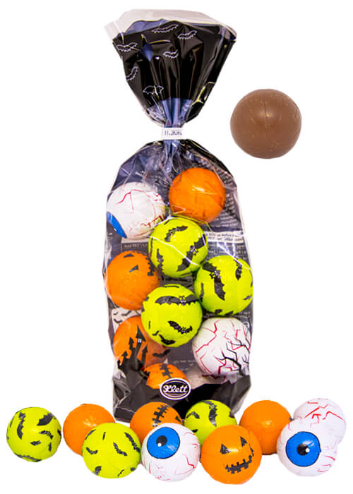 Halloween - Runda chokladfigurer 125g