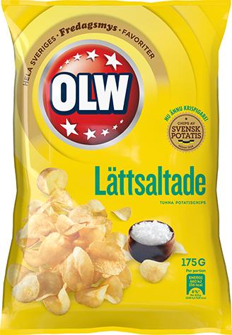 LÄTTSALTADE CHIPS 175 GR HELLÅDA