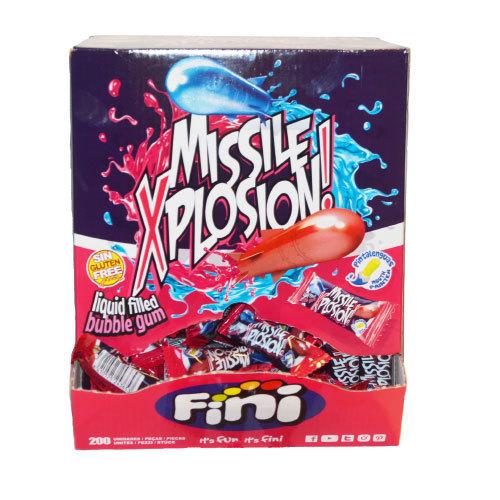 Fini Missile Xplosion Gum - 200 st