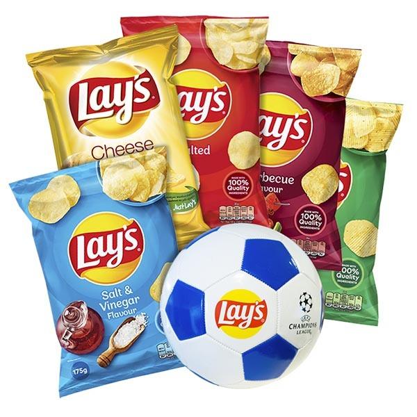 Lay's 5 påsar + Fotboll /