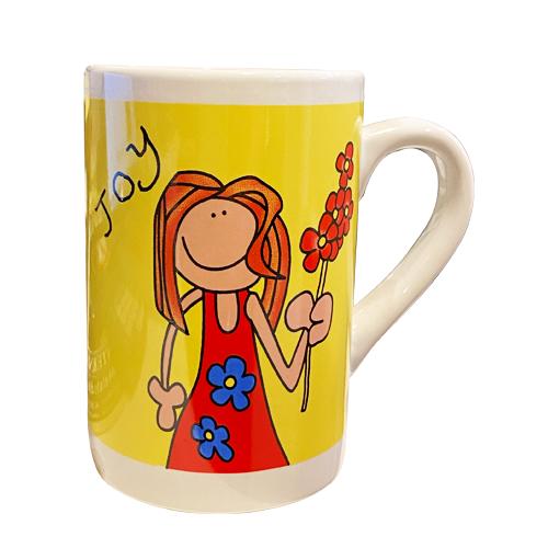 Kaffekopp Gul Joy