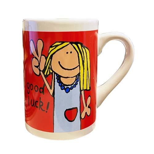 Kaffekopp Röd Good Luck! /