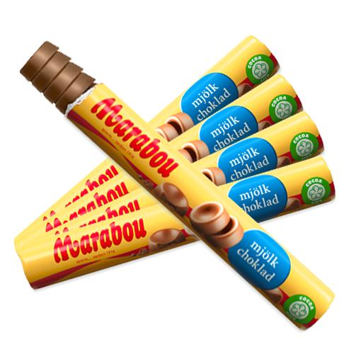 5 st - Marabou Mjölkchokladrulle 74g /