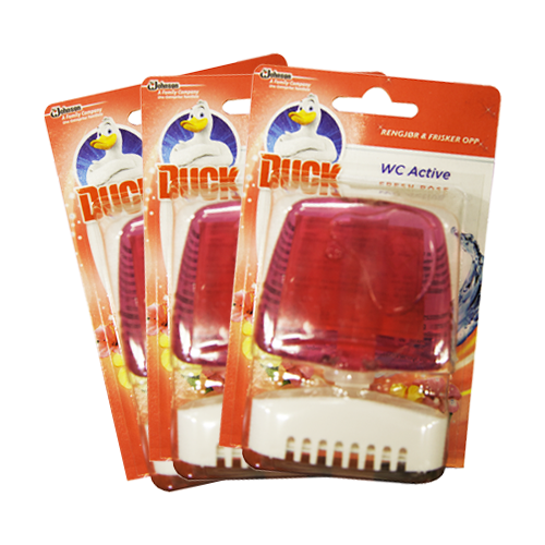 WC DUCK - WC ACTIVE FRESH ROSE 3-pack /