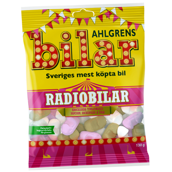 Ahlgrens Radiobilar 100g