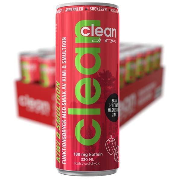 CLEAN DRINK Kiwi/smultron 33cl x 24 st