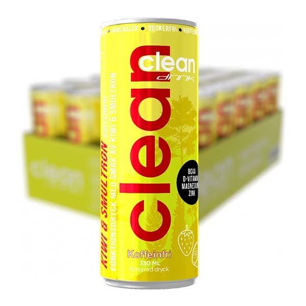 CLEAN Kiwi/Smultron Koffeinfri 33cl x 24
