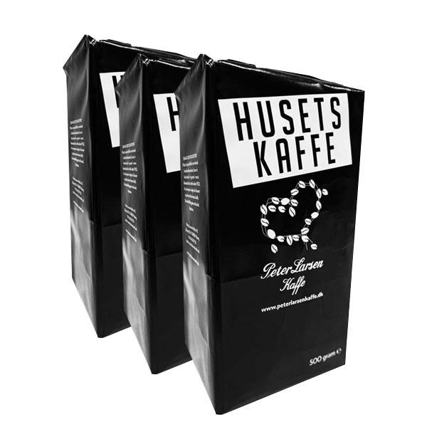 Husets Kaffe - Peter Larsen - 3st x 500g