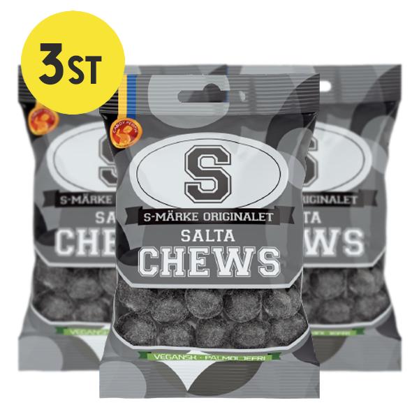 3st - S-Märke Chews Salta 70g