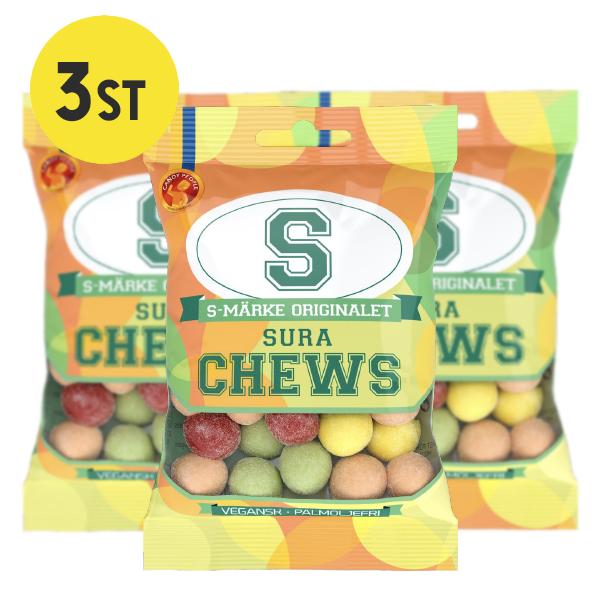 3st - S-Märke Chews Sura 70g