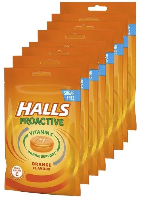 Halls Proactive Orange 65g x 8 st