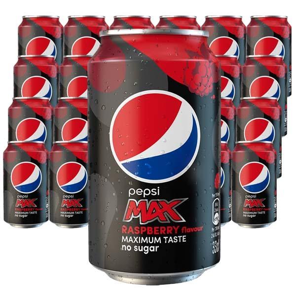Pepsi Max Raspberry 33 cl x 24 st