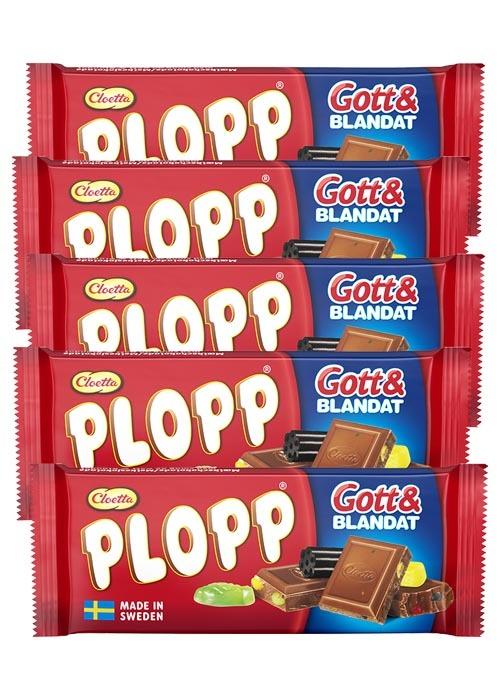 Plopp Gott & Blandat 75g x 5 st