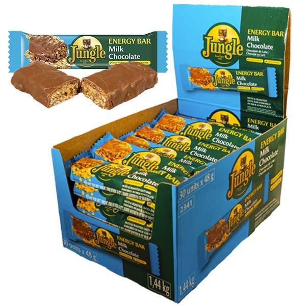 Jungle Energy Bar Milk Choco. 48g x 30st