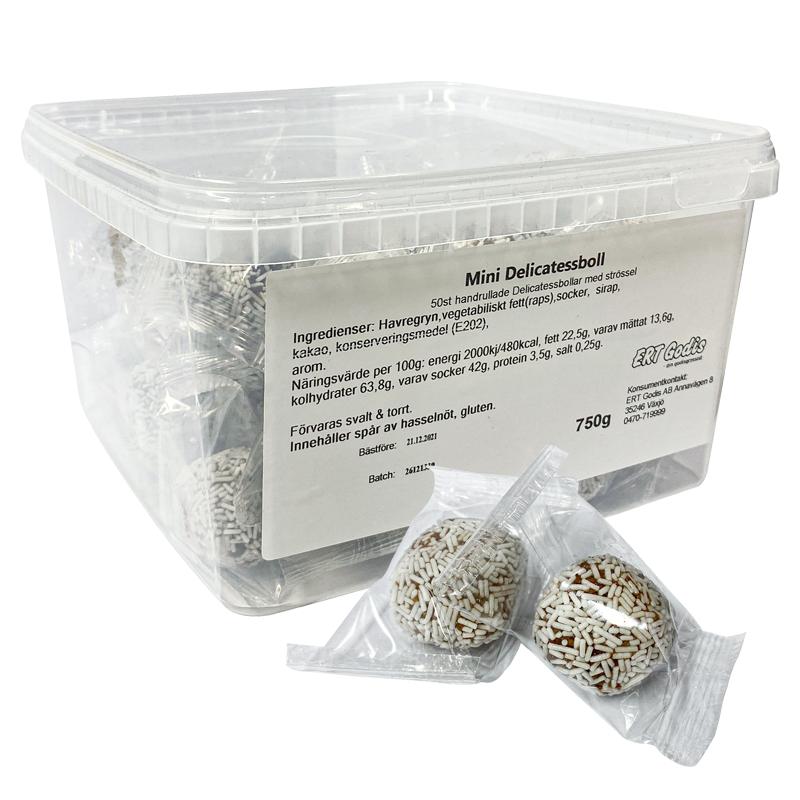 Mini Delicatessboll Strössel 50-pack