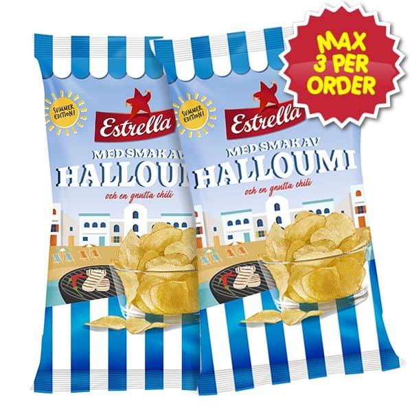 Estrella Chips Halloumi & Chili 175g x 2